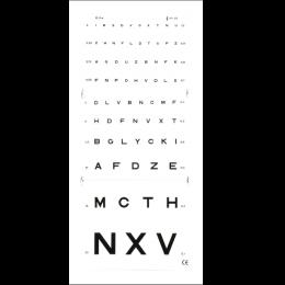 *Test de vision de loin Monoyer (3 ou 5 mètres)