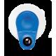 Electrodes ECG rondes à pression Blue Sensor M-00-S/50 Ambu - connecteur excentré en laiton (lot de 1000)