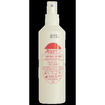 Gel de contact en spray pour ECG, EEG, défibrillateur Unigel (25 flacons de 250ml)