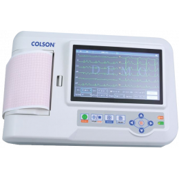 Electrocardiographe ECG Colson Cardi-6 (6 pistes) avec interprétation