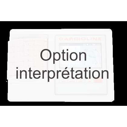 Option interprétation pour ECG Cardioline 100L (algorithme de Glasgow)