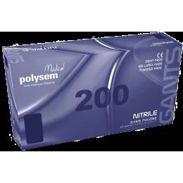Gants d'examen nitrile polysem non poudré (boite de 180 ou de 200)